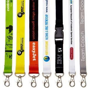 personalised dye sublimation heat transfer lanyard