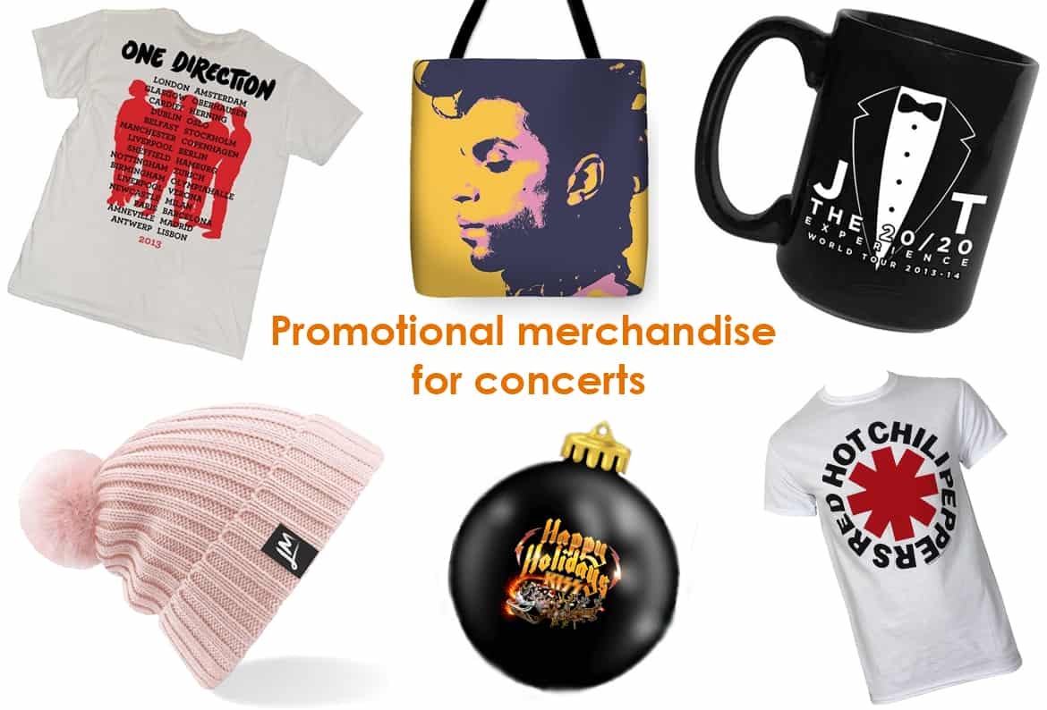 promotional merchandise for concerts