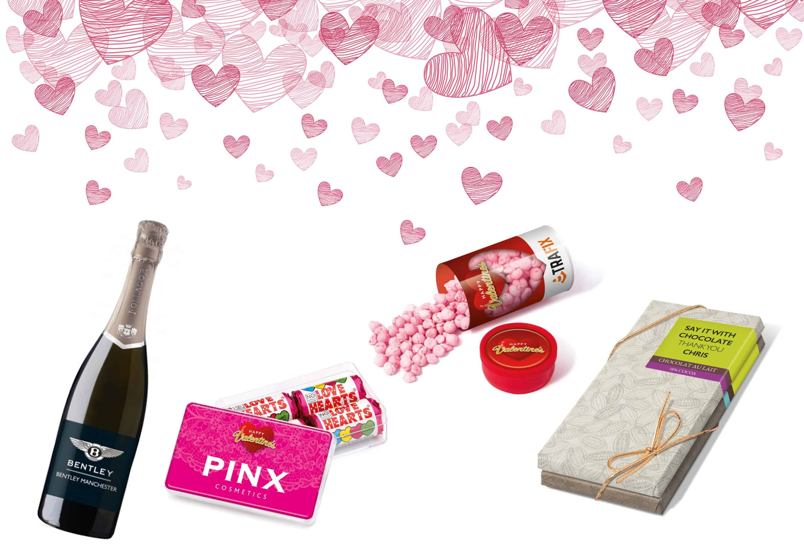 Promotional merchandise ideas for Valentines