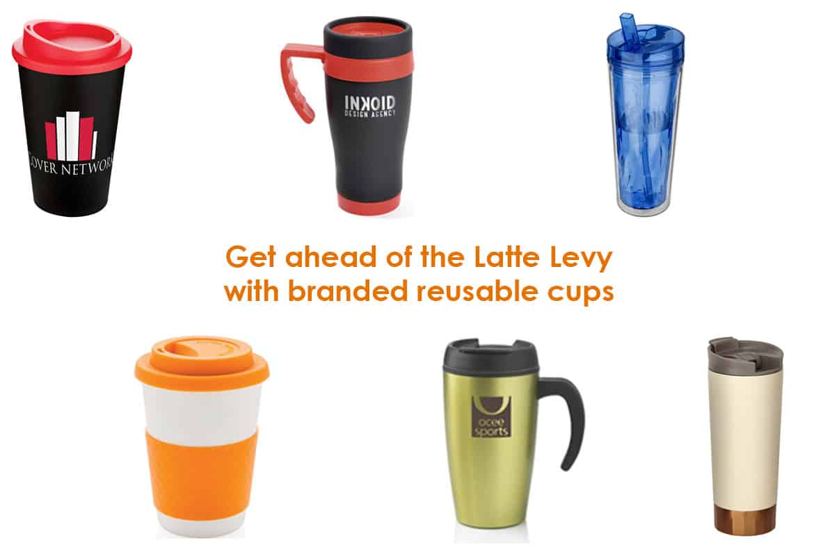 Latte Levy with Branded Reusable Cups