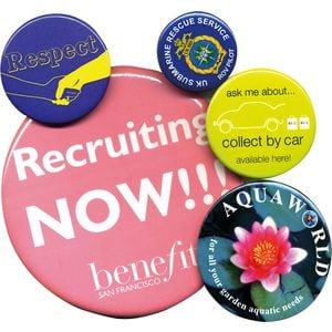 32mm circle Button Badge