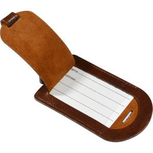 Ashbourne Full Hide Genuine Leather Luggage Tag