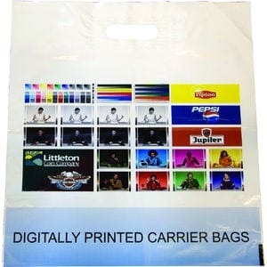 Digital Print Patch Handle Polythene Carrier Bag