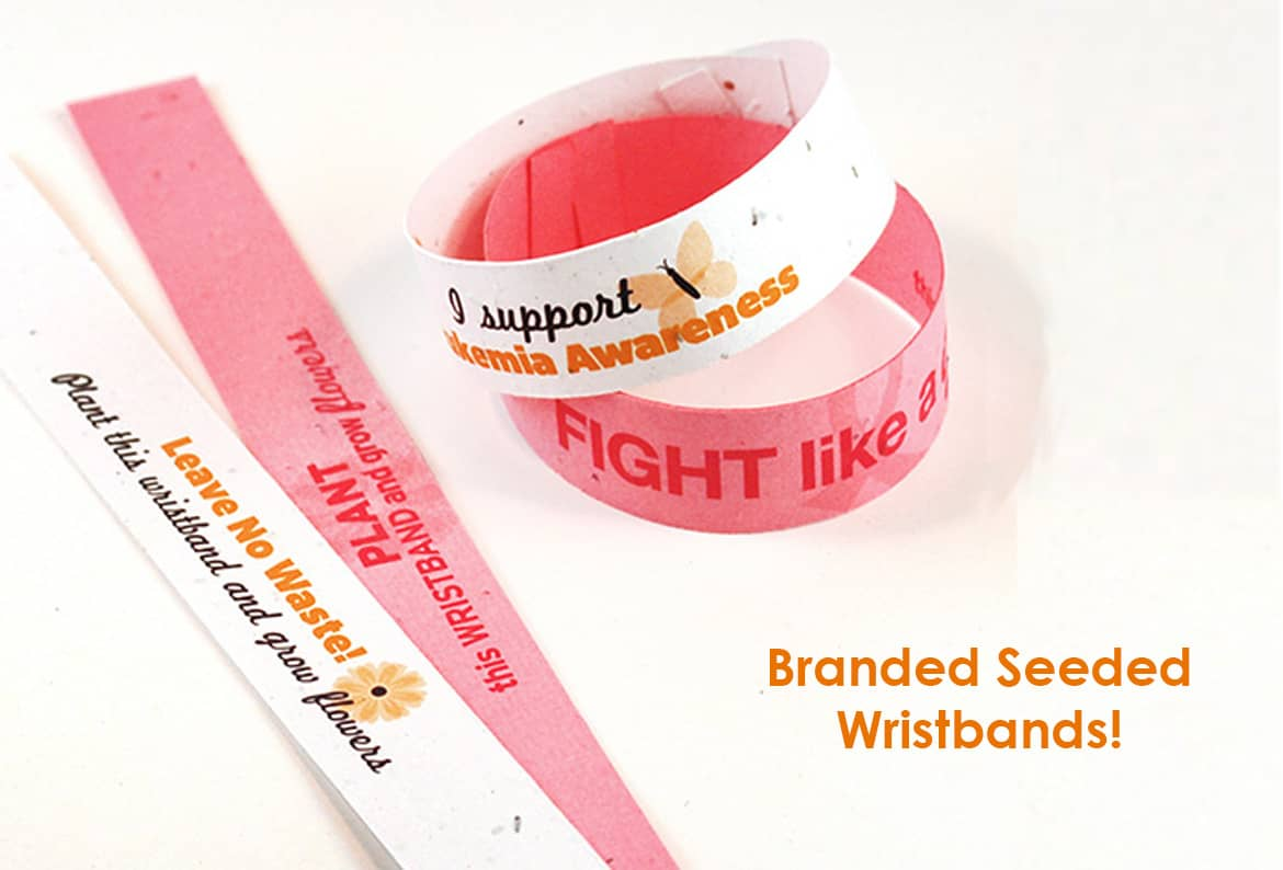 branded seeded wristband