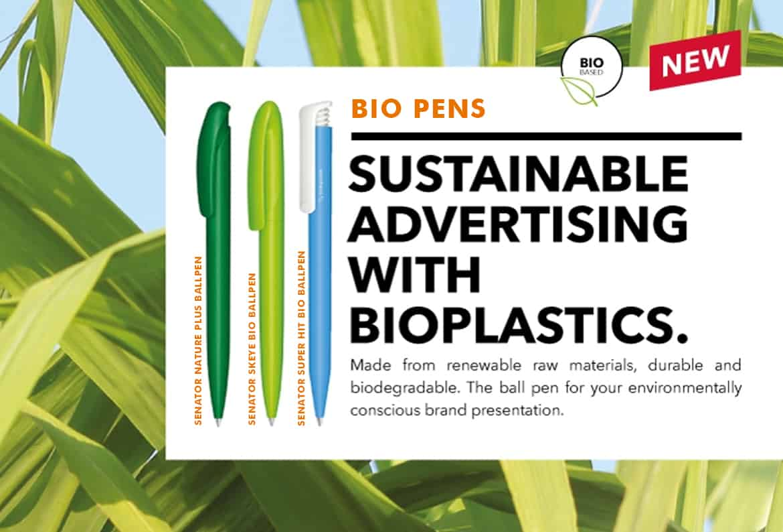 branded biodegradable senator pens