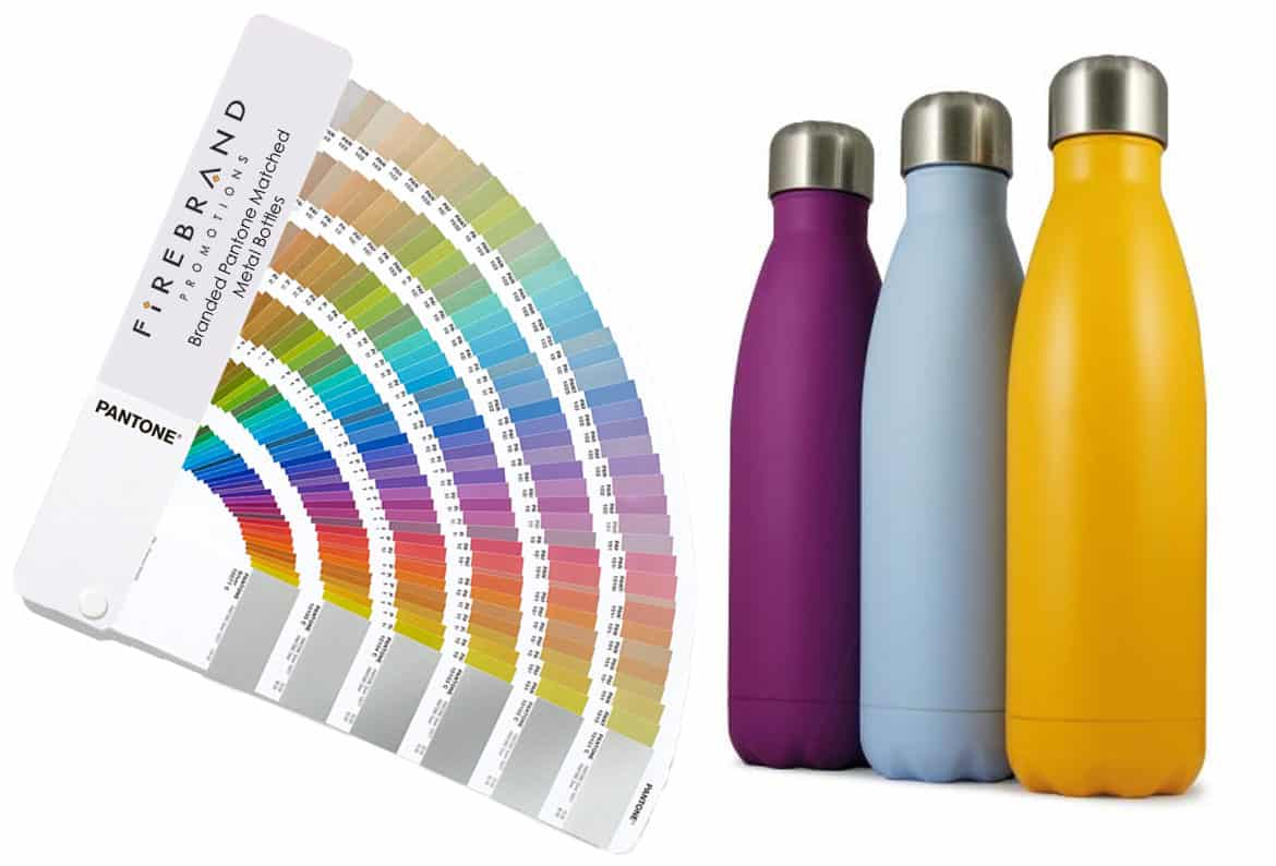 branded pantone matched metal bottles