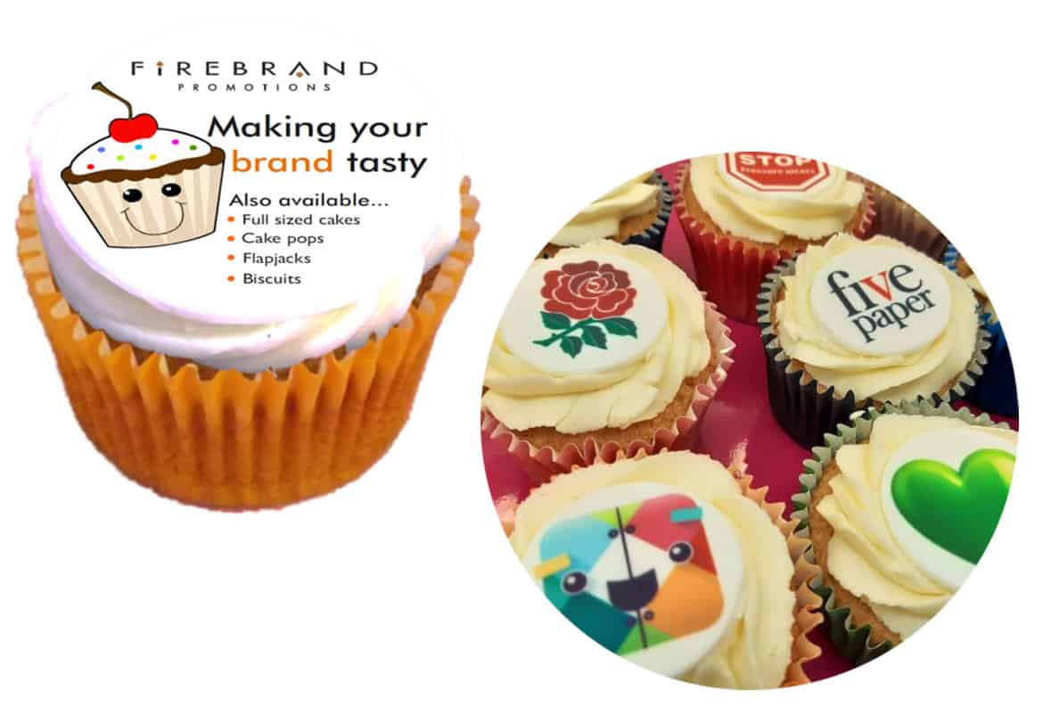 branded corporate cupcakes