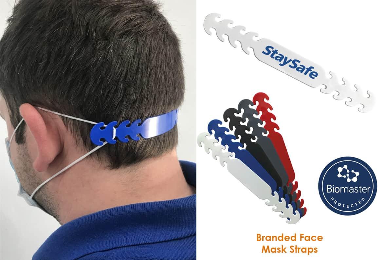 branded face mask straps